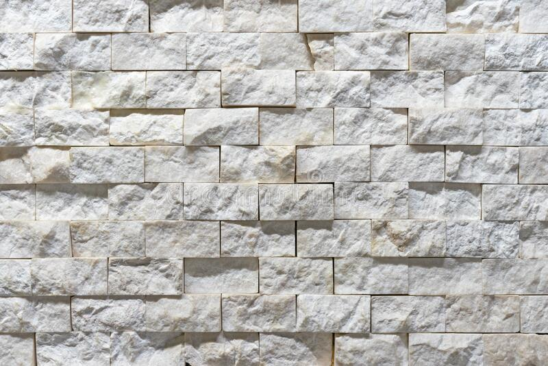 White natural quartz in the blocks for decorating walls indoors royalty free stock images