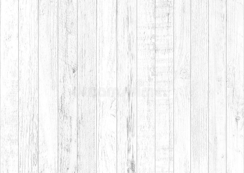 White natural wood wall background. Wood pattern and texture background stock illustration