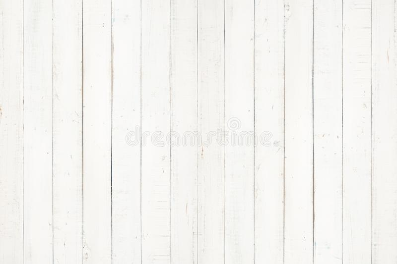 white natural wood wall texture and background,Empty surface white wooden for design,Top view white table and copy space stock photo