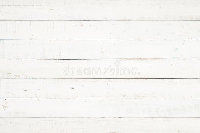 White natural wood wall texture and background,Empty surface white wooden for design,Top view white table and copy space stock images