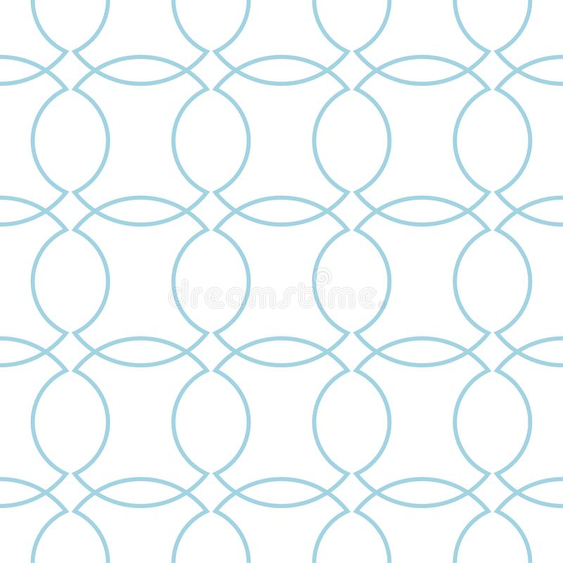 White and navy blue geometric ornament. Seamless pattern vector illustration