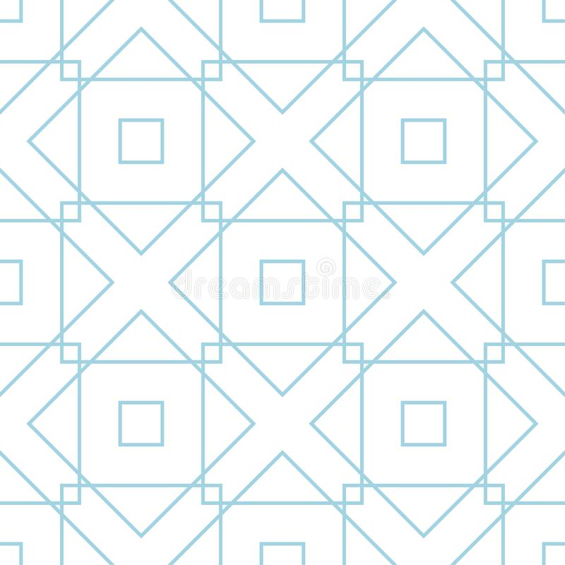 White and navy blue geometric ornament. Seamless pattern royalty free illustration