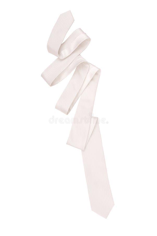 White necktie royalty free stock image
