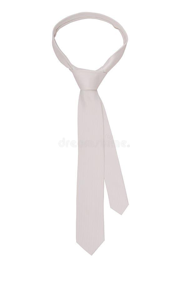 White necktie stock photo