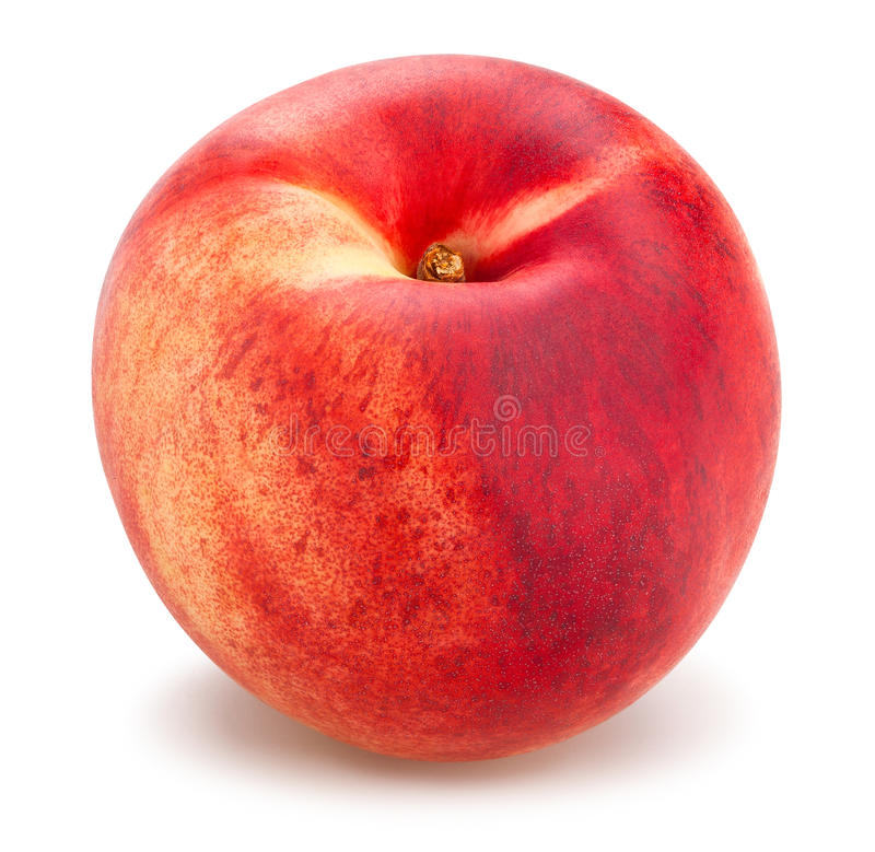 white nectarine stock photography