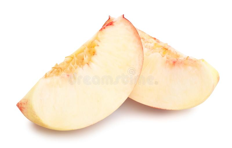 White nectarine stock photos