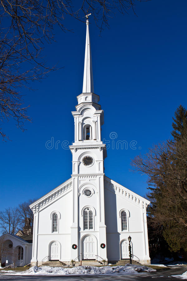 White New England Church