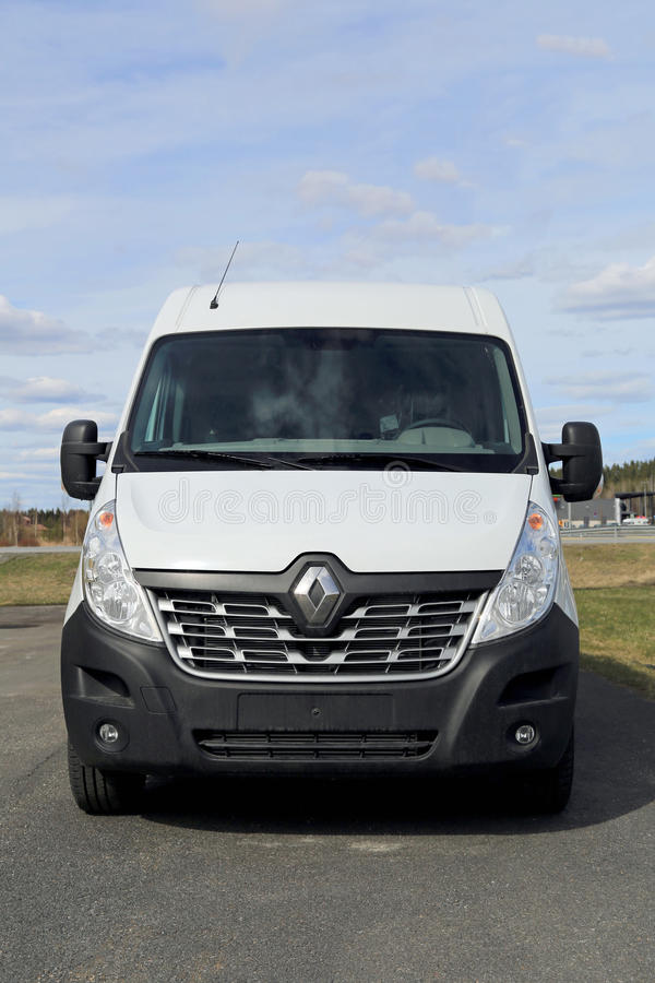 White New Renault Master Van royalty free stock photo