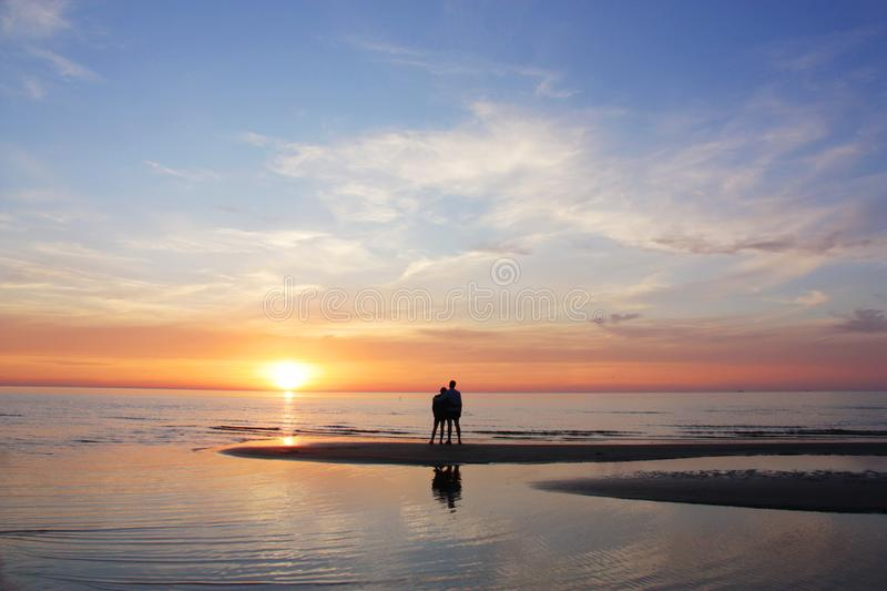 White nights on the baltic sea. Nice to watch sunset and white nights on the baltic sea stock image