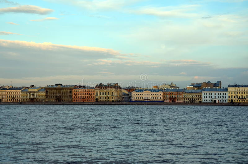 White nights in St. Petersburg. Russia. View of Kutuzov embankment royalty free stock images