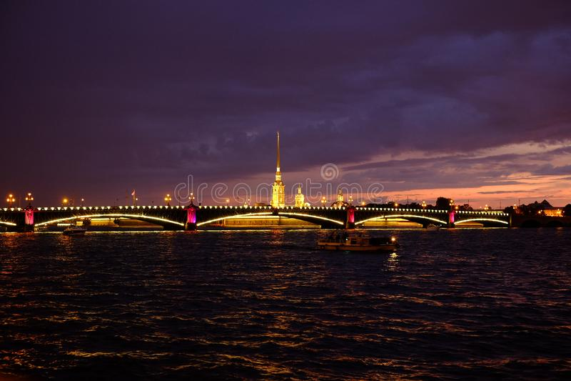 White Nights in St. Petersburg. Fortress, peter paul russia royalty free stock photos