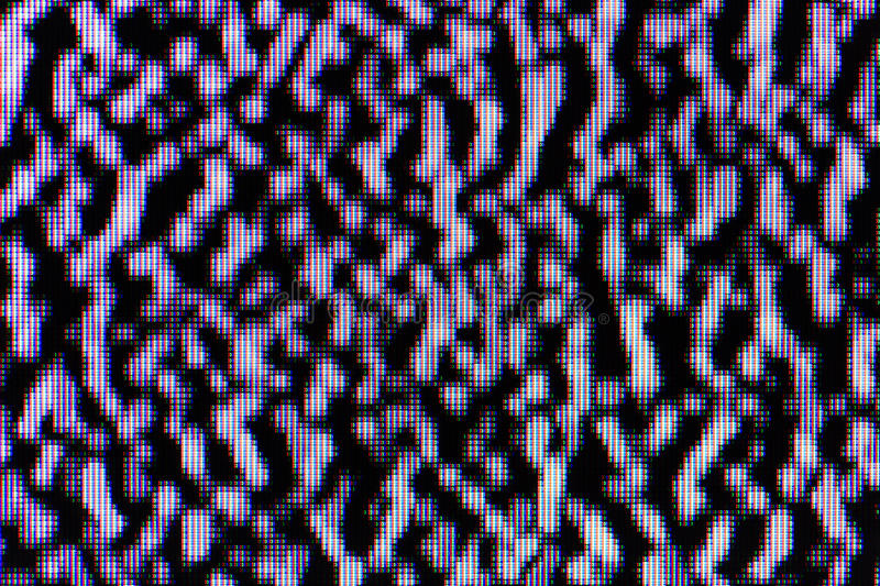 White noise on LCD TV. Detailed macro shot royalty free stock photography