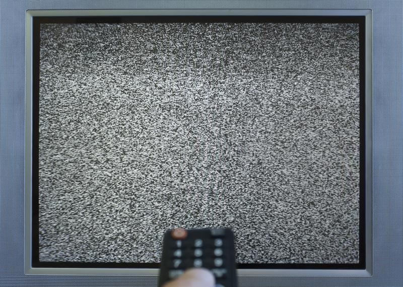 The white noise. On TV screen no signal royalty free stock images
