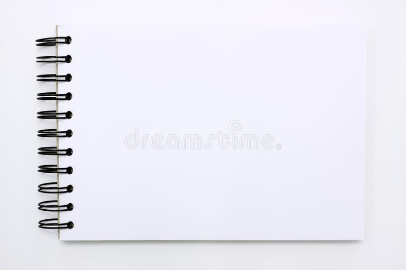 Download White Note Book Isolated On White Background Stock Image - Image of isolated, open: 18268275