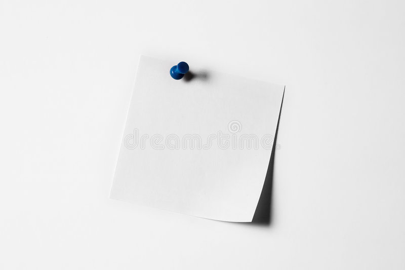 White note paper stock photography