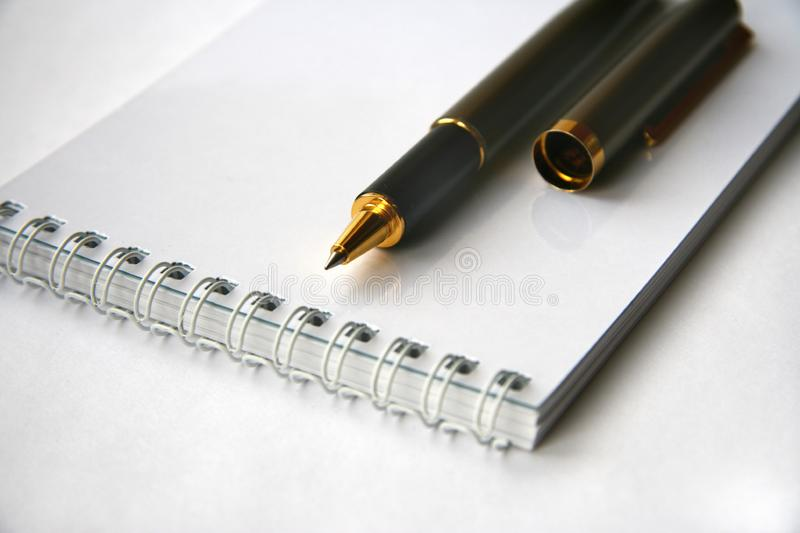 White notebook royalty free stock photography