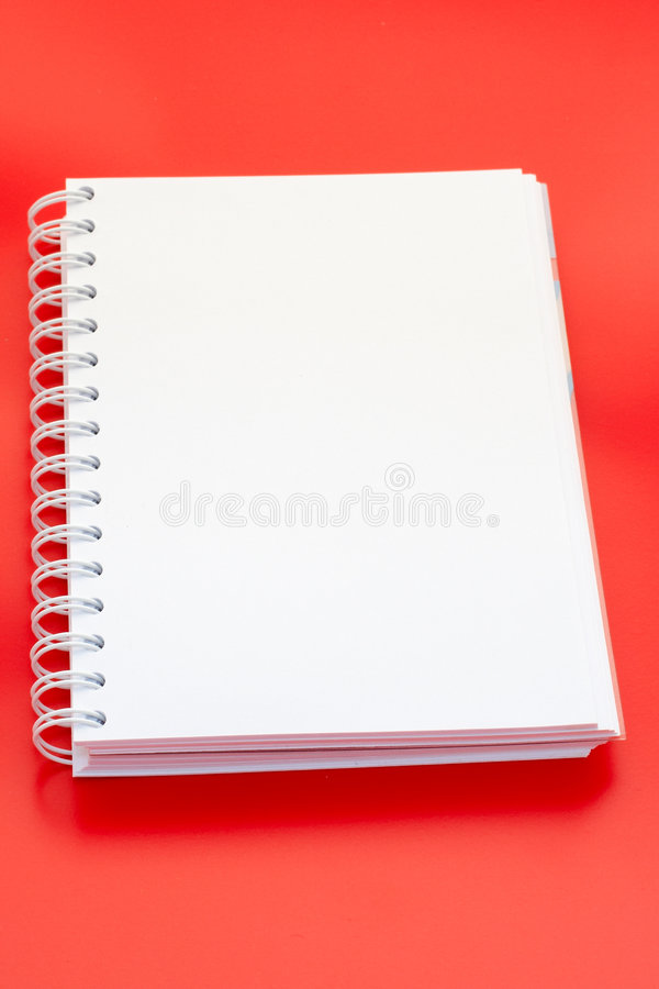 White notebook royalty free stock image
