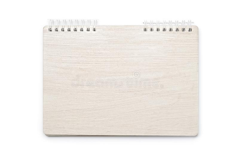 White notebook for notes isolated on white background stock image