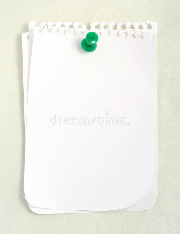 Free White Notebook Paper Stock Photo - 607990