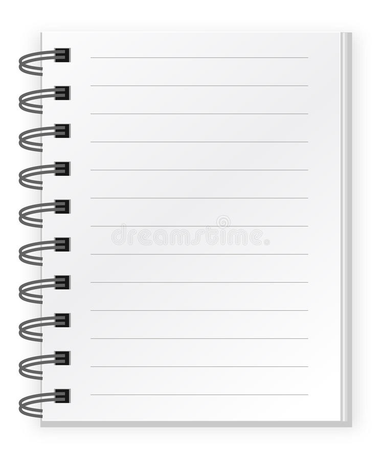 White notepad royalty free illustration