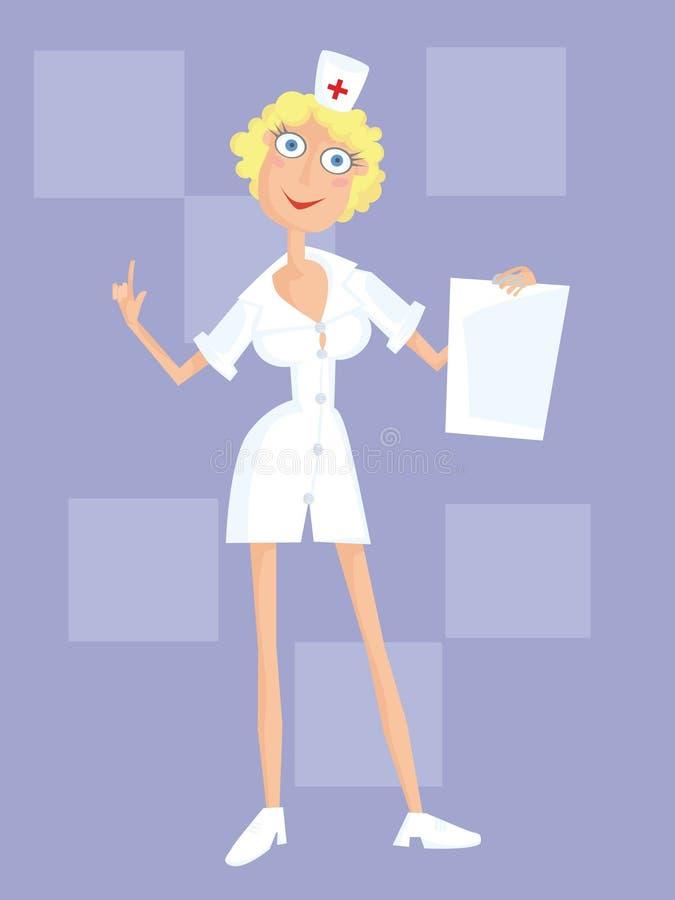 Download White nurse stock vector. Illustration of health, treatment - 5501836