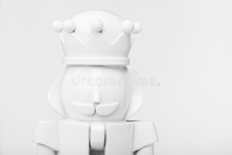 White nutcracker closeup stock photography