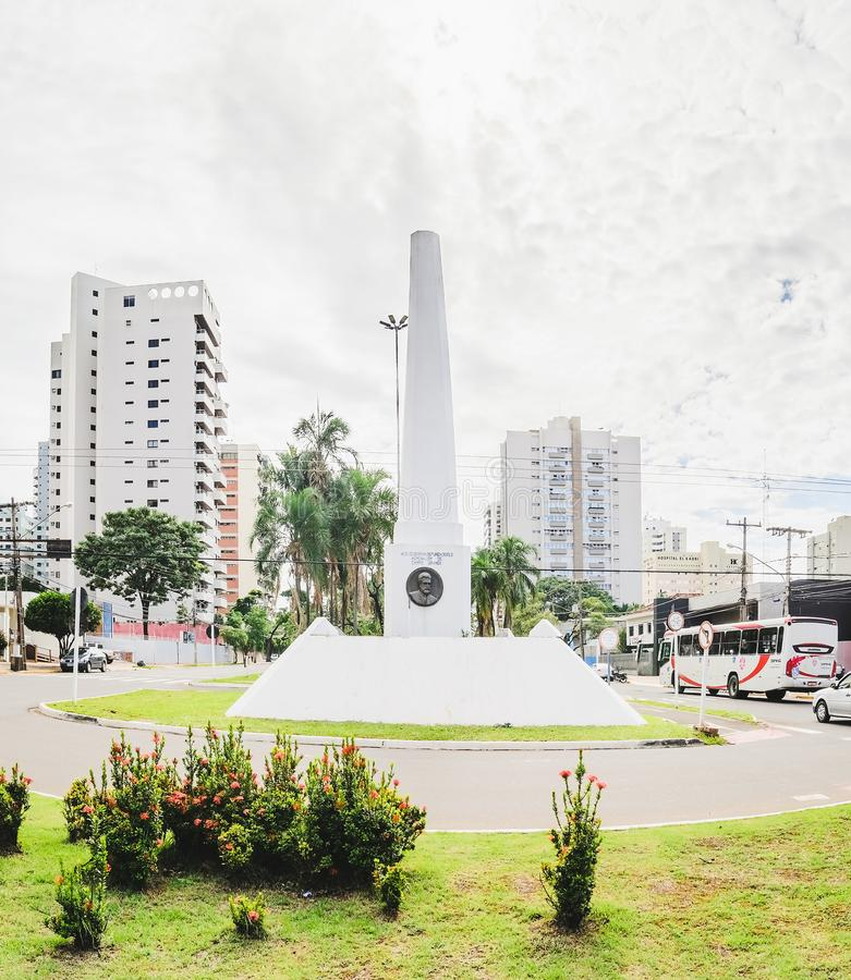 Free White Obelisk On Downtown Of The City On The Afonso Pena Avenue Royalty Free Stock Image - 110979926