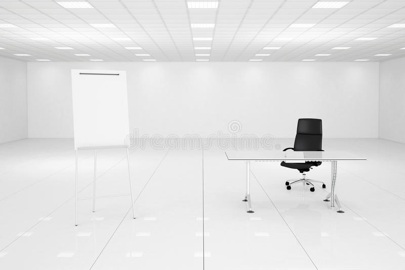 Download White Office Room With Flipchart Stock Illustration - Image: 33471078