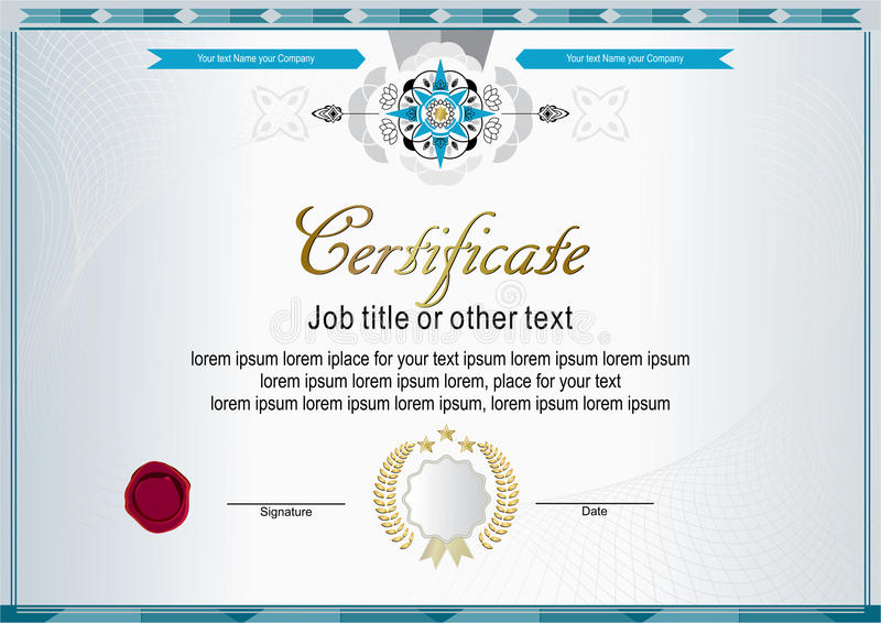 White official certificate with modern design elements royalty free illustration