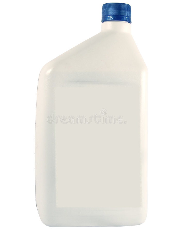 White Oil Bottle stock photo