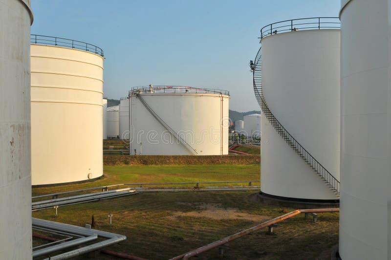 White Oil Tanks Royalty Free Stock Images