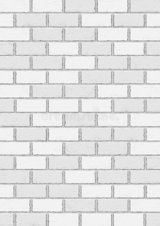 Download White Old Brick Vertical Background Stock Vector