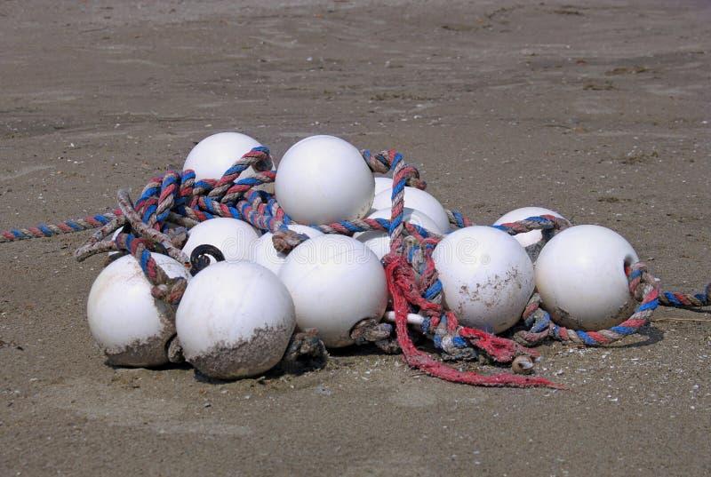 White old buoys royalty free stock photos