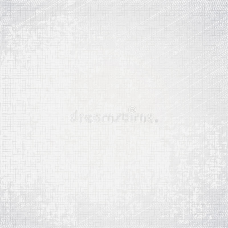 White old canvas texture grunge background. White old canvas texture with delicate oblique stripes as grunge background royalty free illustration