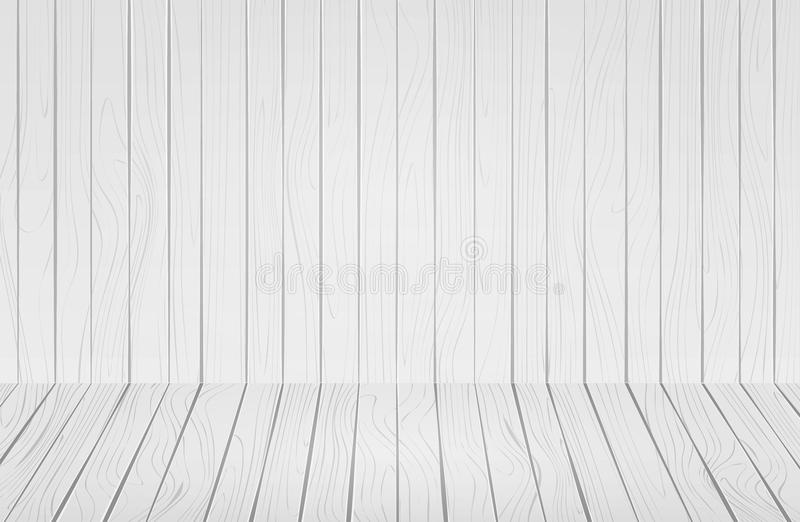White old natural wooden  wall. Background of empty room with messy, grungy crack. royalty free stock images