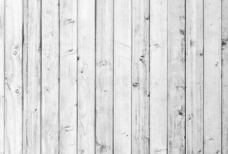 White old wood or wooden vintage plank floor or wall surface background decorative pattern. A minimal tabletop cover stock image