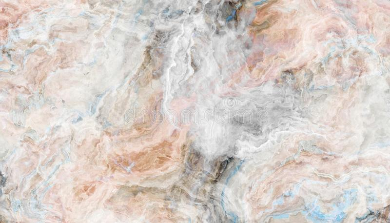 White onyx tile texture. The tile of white onyx abstract texture with color inclusions. Colorful background. 2D illustration. Natural beauty stock image