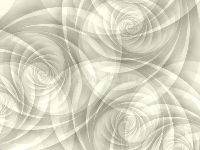 White Opaque Swirls Spirals royalty free illustration