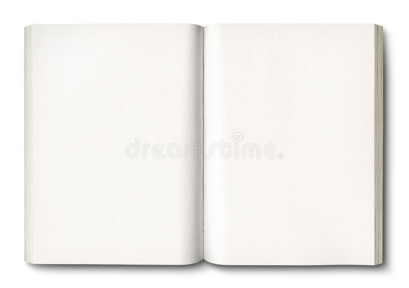 White open book isolated on white vector illustration
