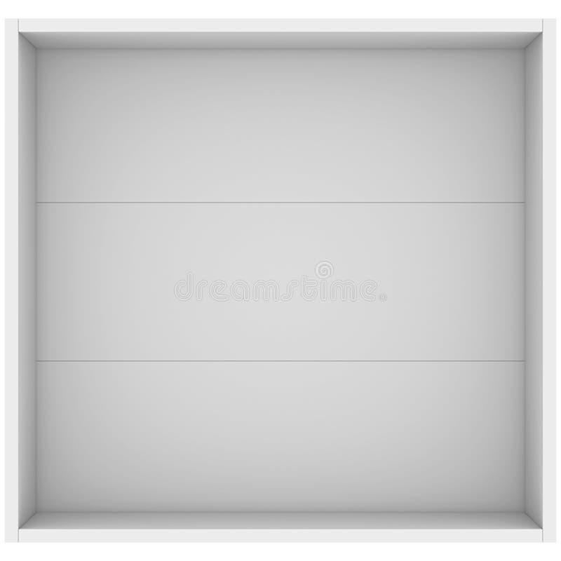 White open box. 3d render isolated on white background vector illustration