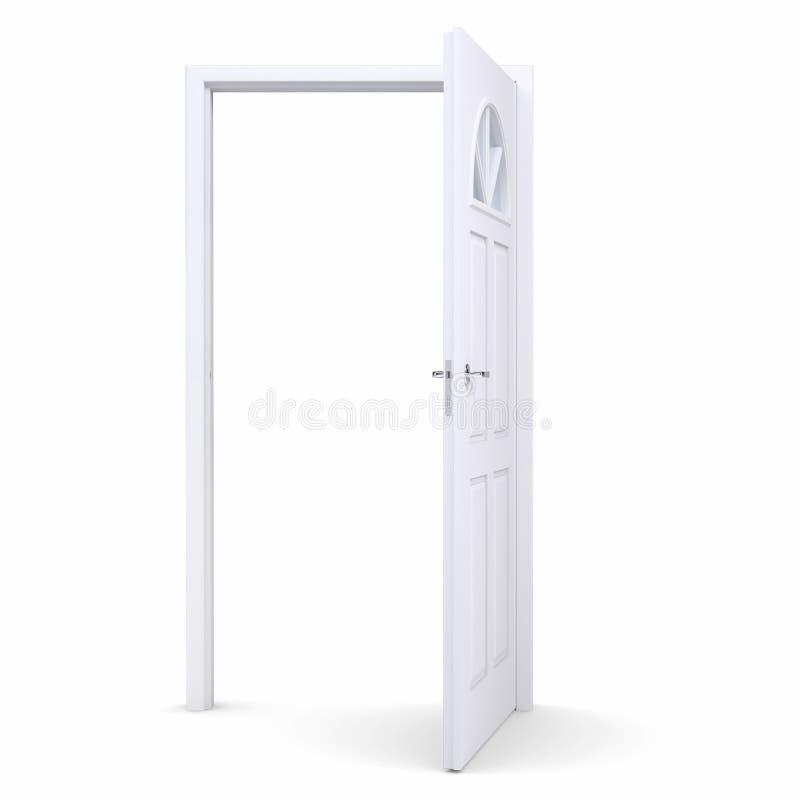 White open door stock illustration