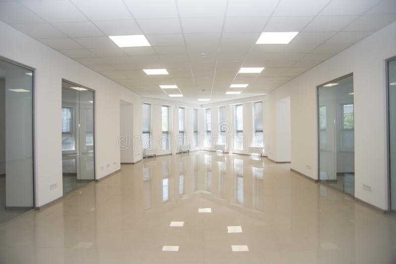 White open space office interior can be used as background.  royalty free stock photos