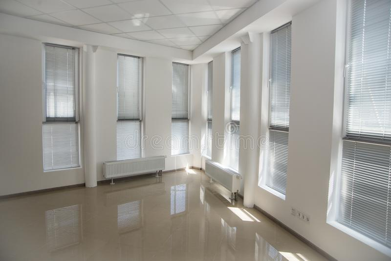 White open space office interior can be used as background.  stock image