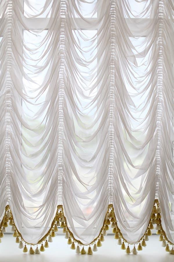 White opera curtains royalty free illustration