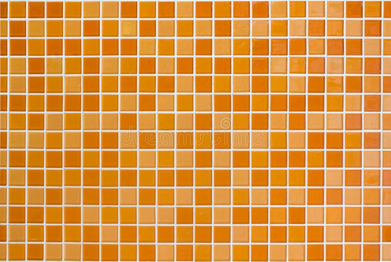 White and orange the tile wall high resolution real photo or brick seamless and texture interior background. royalty free stock images