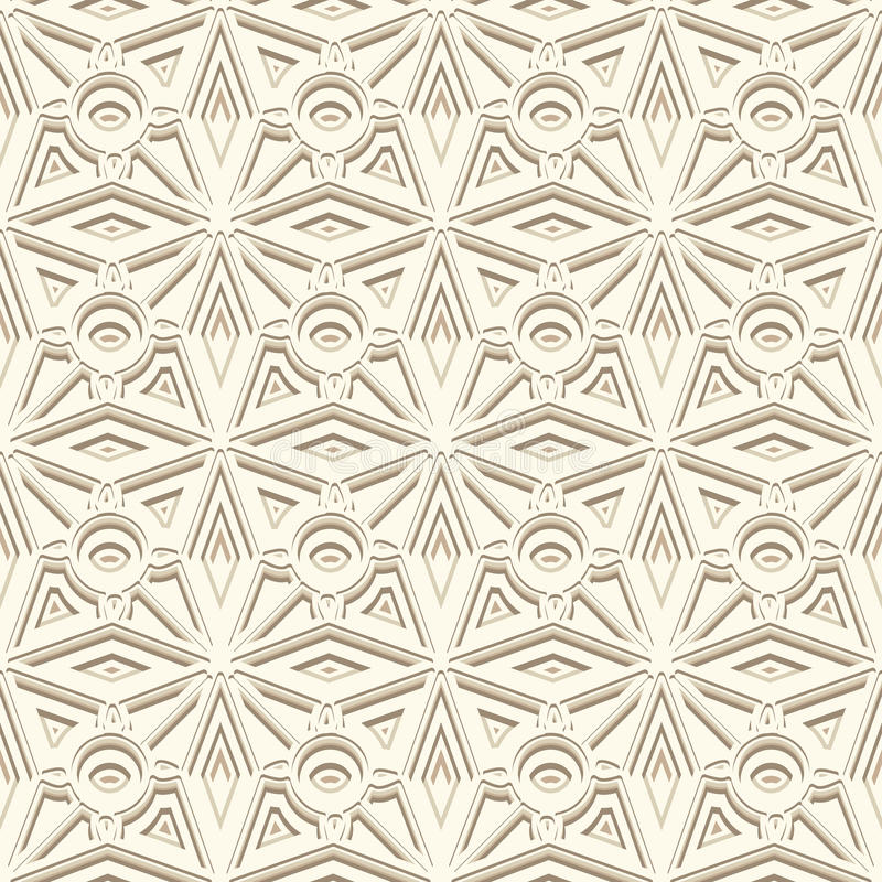White ornamental background, seamless pattern. In neutral color royalty free illustration