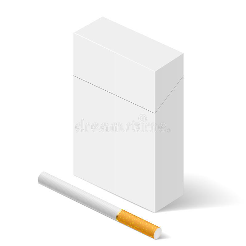 White Pack of cigarettes royalty free illustration