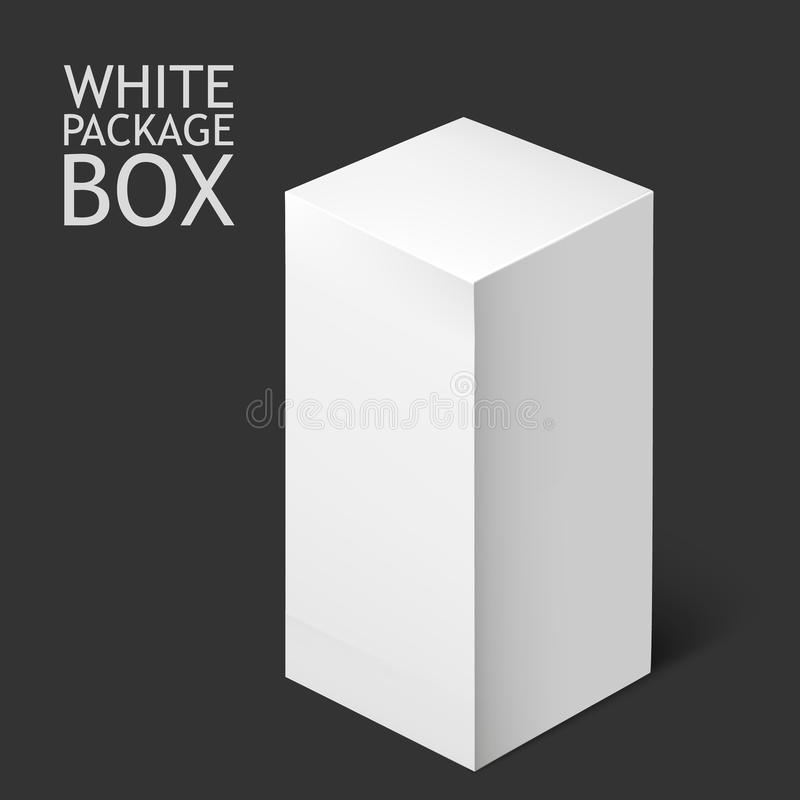White Package Box. Mockup Template vector illustration