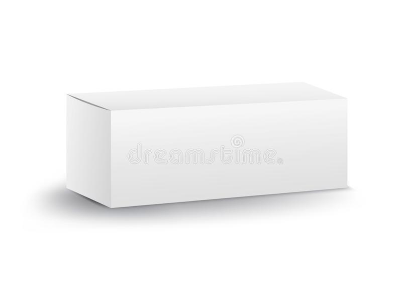White package box vector, package design, 3d box, product design, realistic packaging for cosmetic or medical stock illustration
