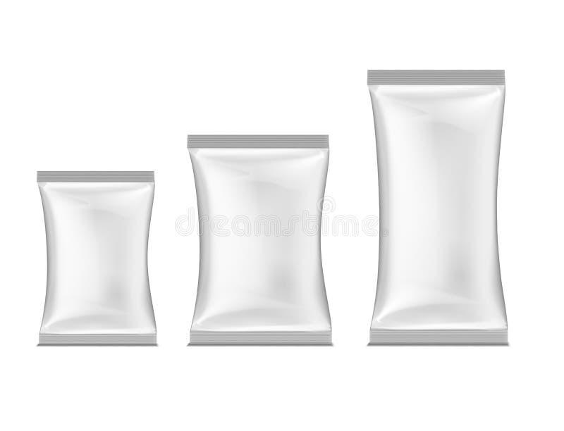 White packing. Vector illustration stock illustration